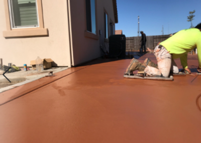 this image shows concrete finishing yorba linda