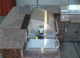 barbecue installation countertop