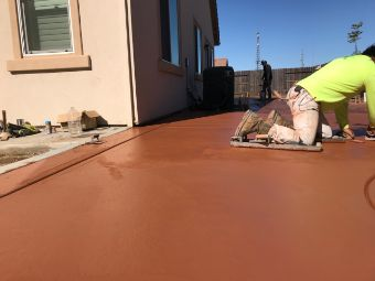 Yorba Linda colored concrete driveway contractors