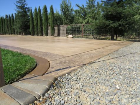 this image shows concrete driveway in yorba linda