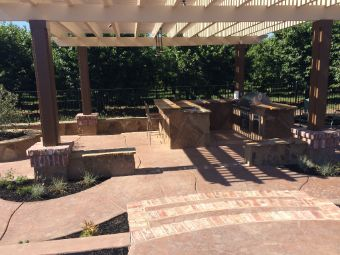 Yorba Linda concrete patio installation