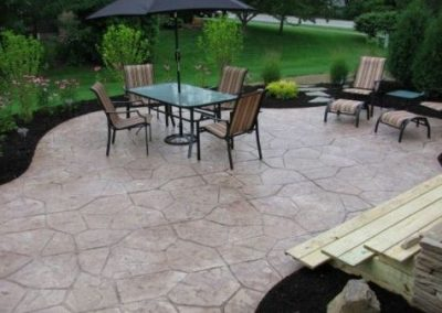 this is an image of concrete patio yorba linda