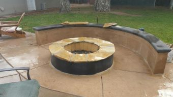 fire pit construction