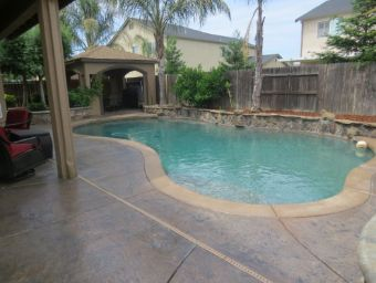 resurfaced concrete staining pool deck yorba linda