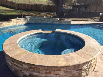 yorba linda stacked stone pool deck