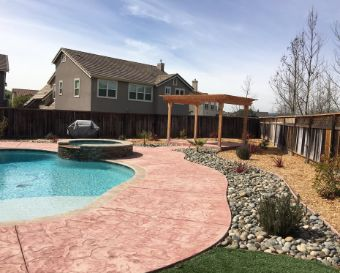 stained concrete pool deck yorba linda