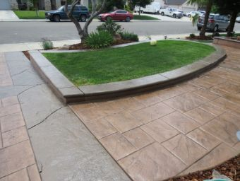 Yorba Linda stamped concrete driveway
