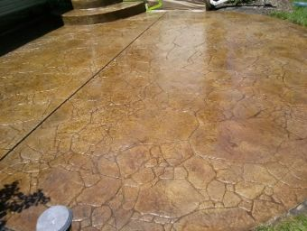 yorba linda stamped concrete patio